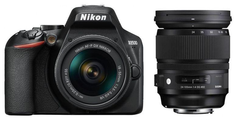 Nikon D3500 + AF-P DX 18-55mm + Sigma 24-105mm F4 DG OS HSM Nikon