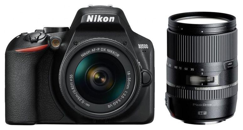 Nikon D3500 + AF-P DX 18-55mm + Tamron 16-300mm f3,5-6,3 DI II VC PZD