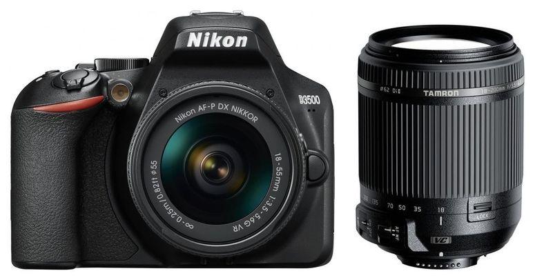 Nikon D3500 + AF-P DX 18-55mm + Tamron 18-200mm f3.5-6.3 DI II VC