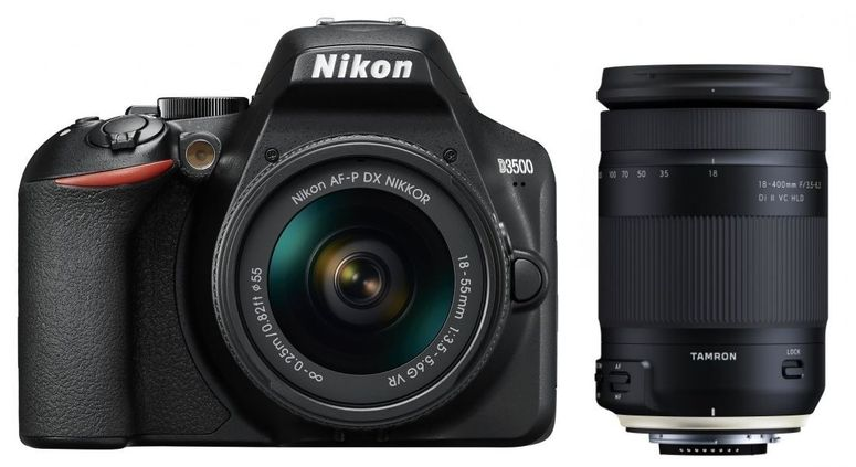 Nikon D3500 + AF-P DX 18-55mm +Tamron 18-400mm f3,5-6,3 Di II VC HLD N