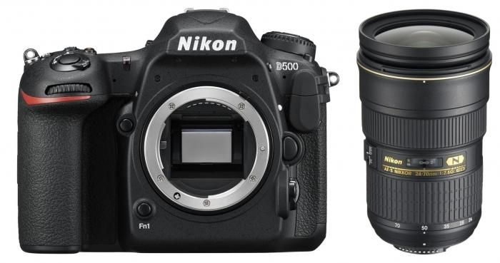 Nikon D500 + 24-70 mm AF-S 2.8G ED