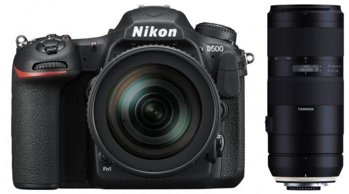 Nikon D500 + AF-S DX 16-80 mm VR + Tamron 70-210mm F4,0 Di VC USD