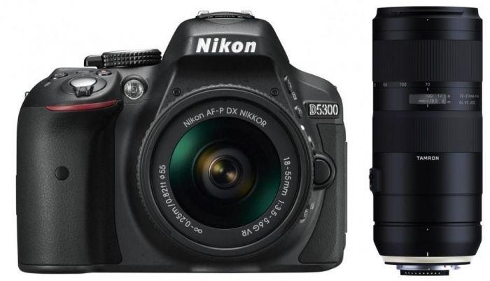 Nikon D5300 + AF-P 18-55mm VR + Tamron 70-210mm F4,0 Di VC USD