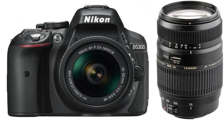 Nikon D5300 + AF-P 18-55mm VR + Tamron 70-300mm DI f4-5,6