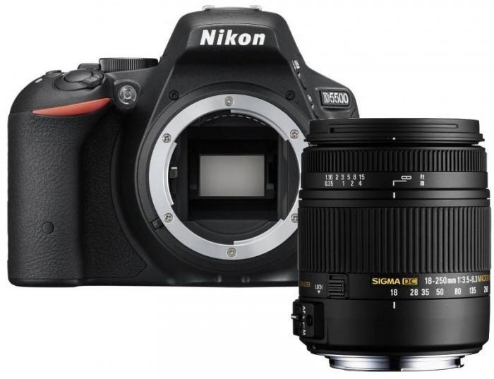 Nikon D5500 schwarz + Sigma 18-250mm f3,5-6,3 OS HSM