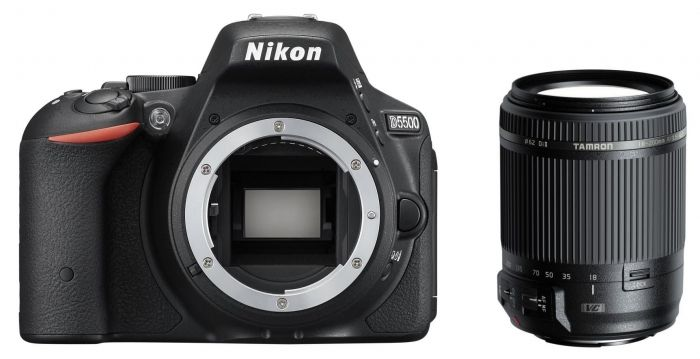 Nikon D5500 schwarz + Tamron 18-200 mm f3.5-6.3 DI II VC