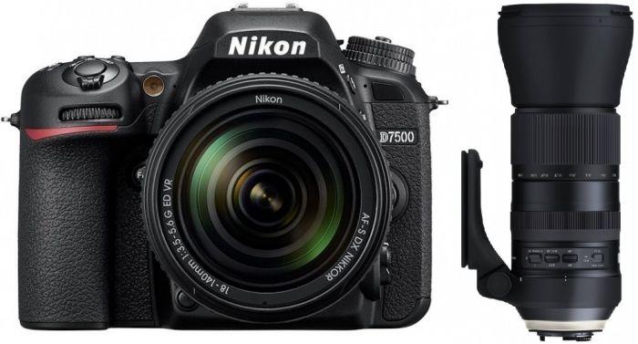 Nikon D7500 AF-S DX 18-140mm + Tamron SP 150-600mm f5-6,3 Di VC G2