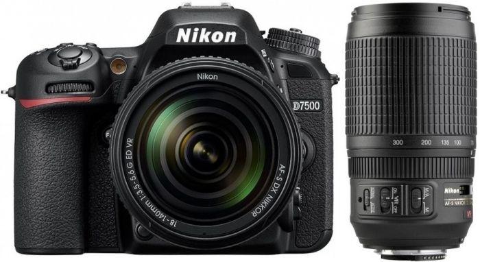Nikon D7500 Kit AF-S DX 18-140 + 70-300mm f4,5-5,6 VR G