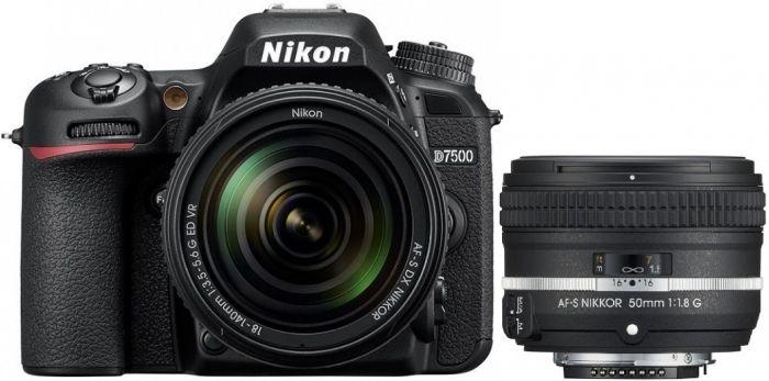 Nikon D7500 KIT AF-S DX 18-140 + AF-S 50mm f1.8 G