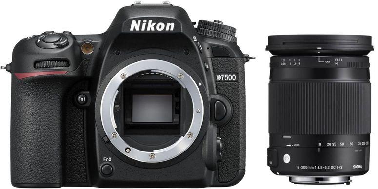 Nikon D7500 + Sigma 18-300 f3,5-6,3 DC Macro OS HSM