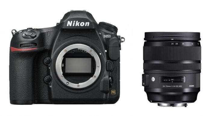Nikon D850 + Sigma 24-70mm f2,8 DG OS HSM (A)