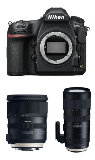 Nikon D850 + Tamron 24-70mm f2,8 G2 + Tamron 70-200mm f2,8 G2