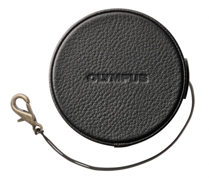 Olympus LC-60.5GL Leder Objektivdeckel schwarz