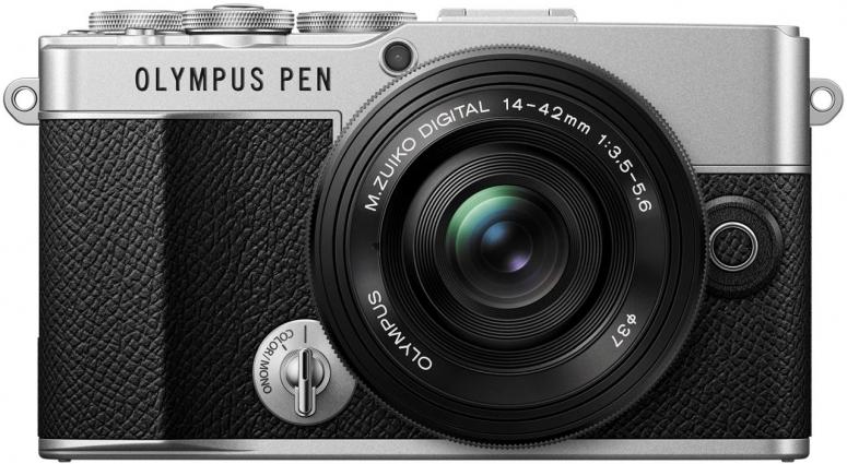 Olympus PEN EP-7 silber + M.Zuiko 14-42mm f3,5-5,6 Pancake schwarz