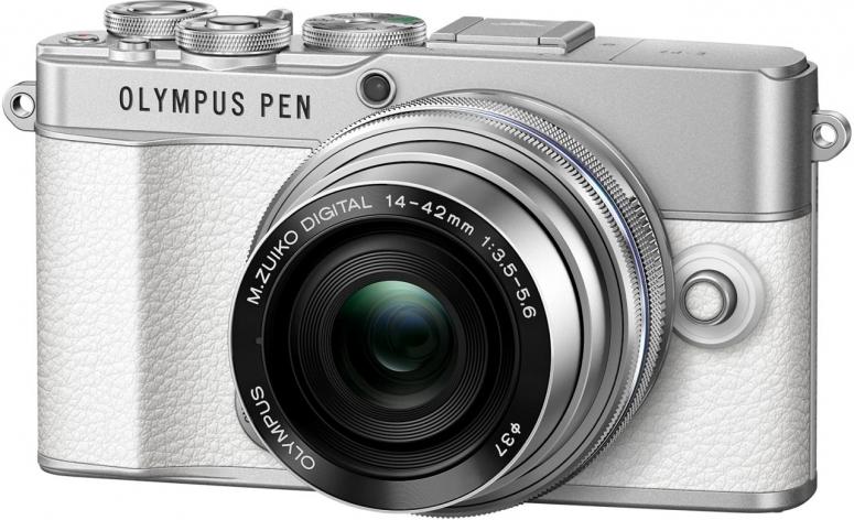 Olympus PEN EP-7 weiß + M.Zuiko 14-42mm f3,5-5,6 Pancake silber