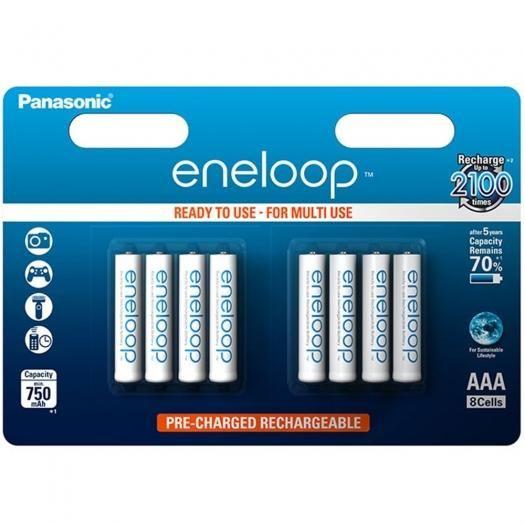 Panasonic eneloop Akkus AAA-Micro 8er-Pack
