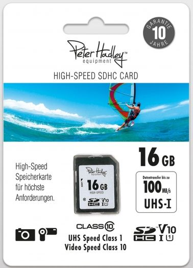 Peter Hadley 16 GB SDHC HighSpeed Class10 UHS-I 100 MB/s
