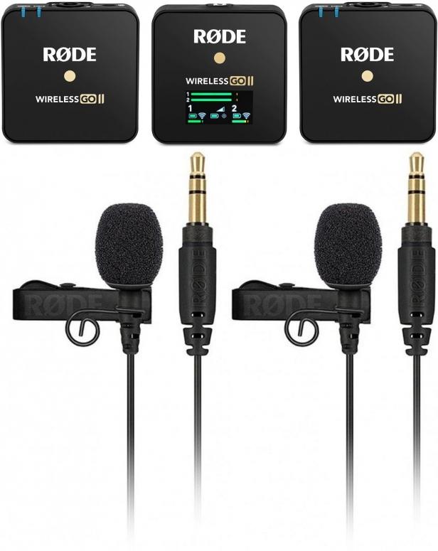 Rode Wireless Go II + 2x Lavalier GO Lavaliermikrofon