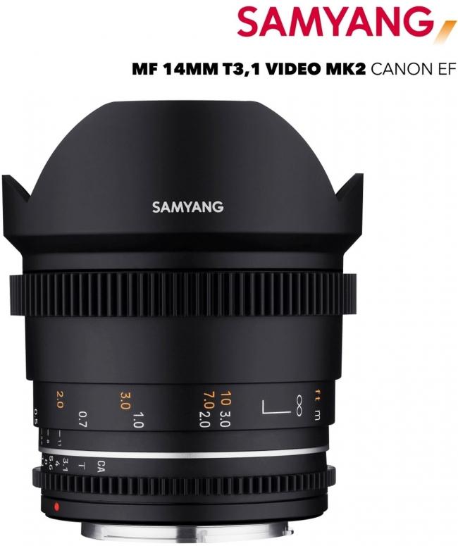 Samyang MF 14mm T3,1 VDSLR MK2 Canon EF