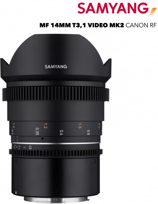 Samyang MF 14mm T3,1 VDSLR MK2 Canon RF