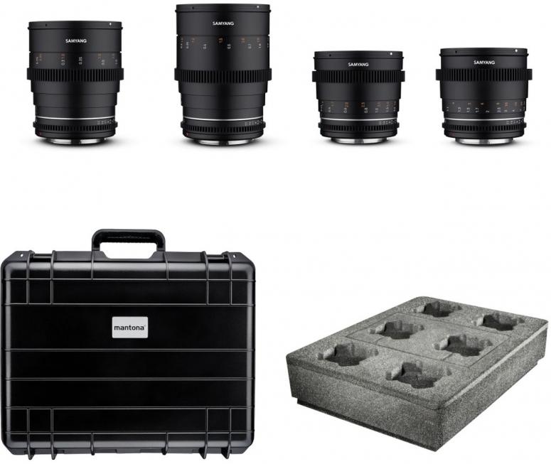 Samyang MF 24/35/50/85 MK2 VDSLR Kofferset Canon EF