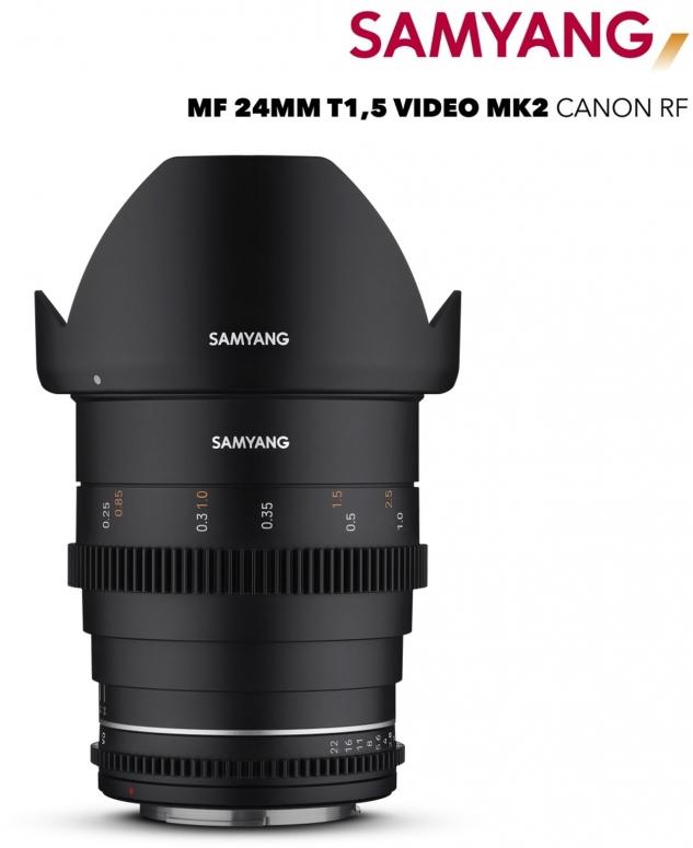 Samyang MF 24mm T1,5 VDSLR MK2 Canon RF
