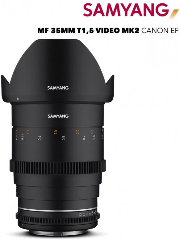 Samyang MF 35mm T1,5 VDSLR MK2 Canon EF