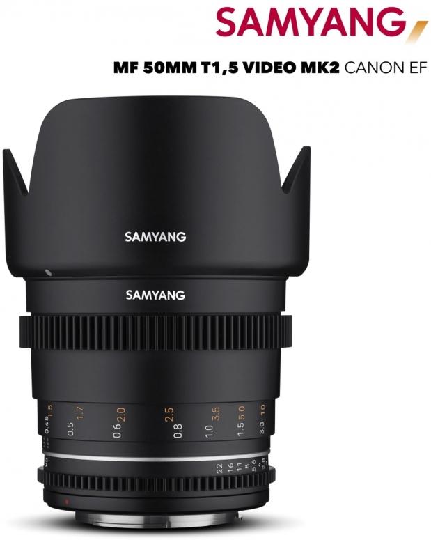 Samyang MF 50mm T1,5 VDSLR MK2 Canon EF