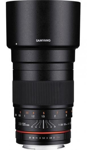 Samyang UMC 135mm 1:2,0 für Canon EOS