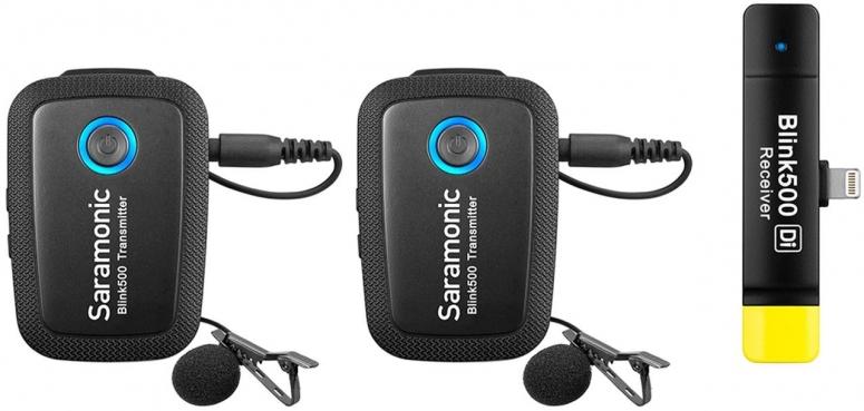 Saramonic Blink 500 B4 TX+TX+RXDi Funkmikrofon System für Lightning