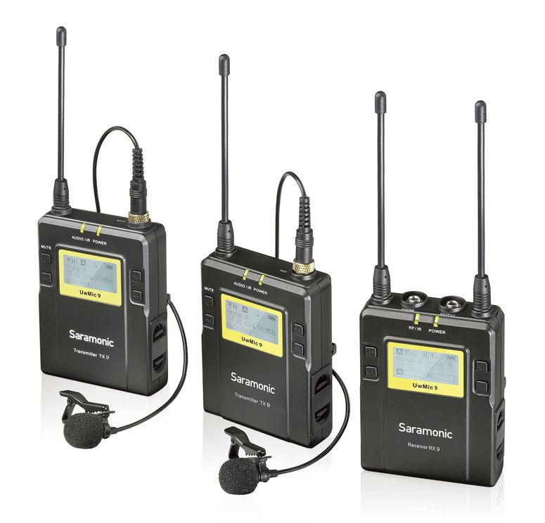 Saramonic UwMic9 RX9 + 2x TX9 Lavaliermikrofon-Set