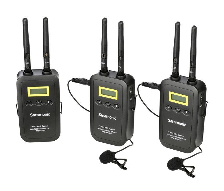 Saramonic VmicLink5 TX+TX+RX 5,8 GHz Wireless Mikrofon-System