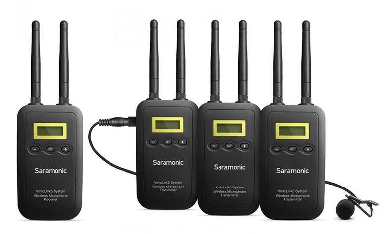 Saramonic VmicLink5 TX+TX+TX+RX 5,8 GHz Wireless Mikrofon-System