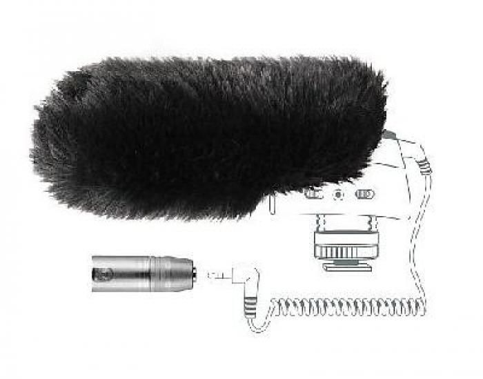 Sennheiser Fellwindschutz und XLR Adapter MZW 400