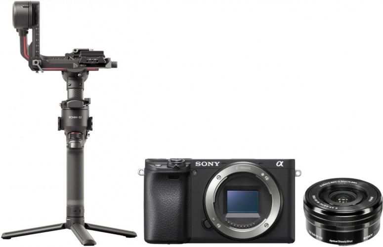 Sony Alpha ILCE-6400 + 16-50mm OSS schwarz + DJI RS 2