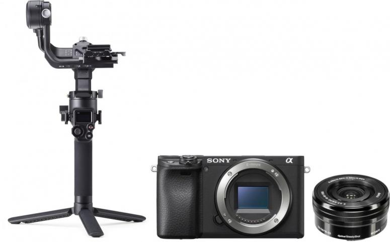 Sony Alpha ILCE-6400 + 16-50mm OSS schwarz + DJI RSC 2