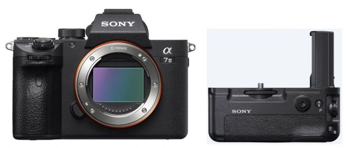 Sony Alpha ILCE-7 III (ILCE7M3) + Batteriehandgriff VG-C3EM
