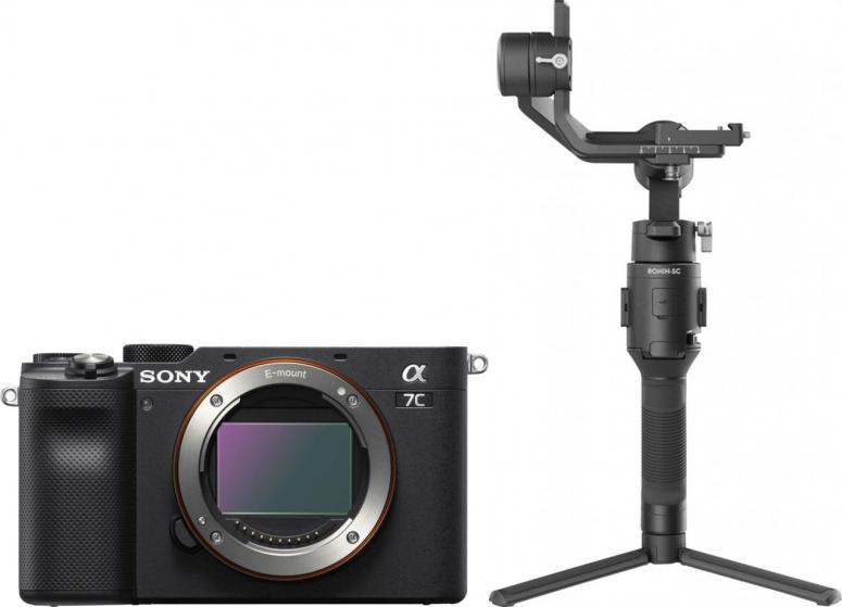 Sony Alpha ILCE-7C schwarz + DJI Ronin SC