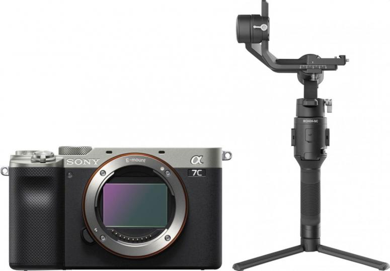 Sony Alpha ILCE-7C silber + DJI Ronin SC