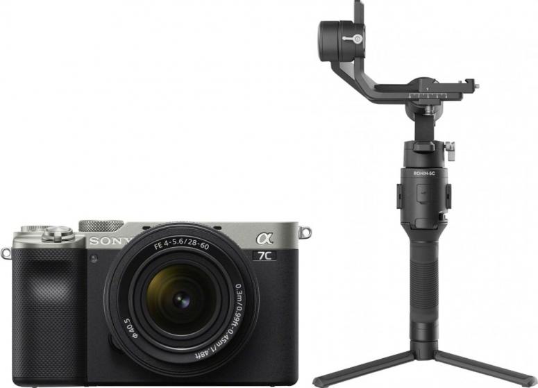 Sony Alpha ILCE-7C silber + FE 28-60mm + DJI Ronin SC