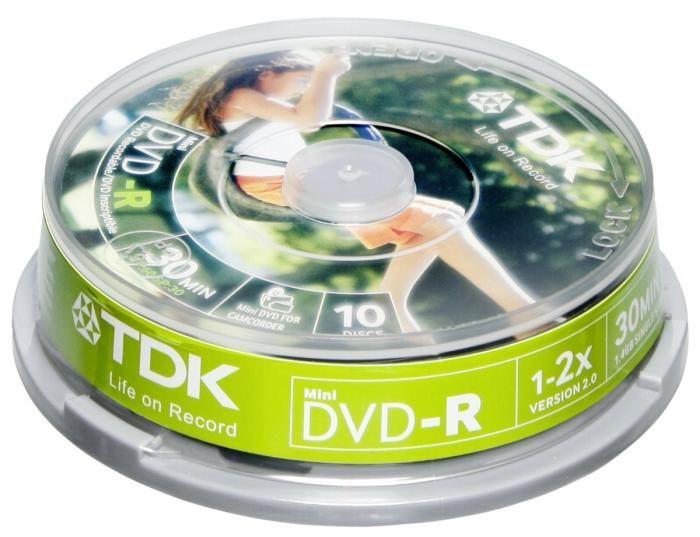 TDK DVD-R 8cm 10er Spindel