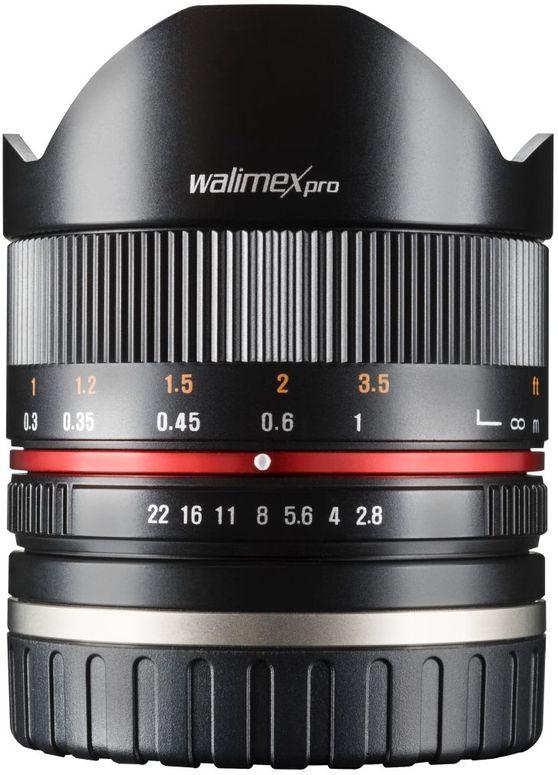 Walimex pro 8mm F2,8 Fisheye II APS-C Sony E schwarz