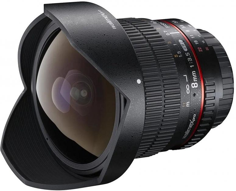 Walimex pro 8mm F3,5 Fisheye II APS-C Canon EF-S