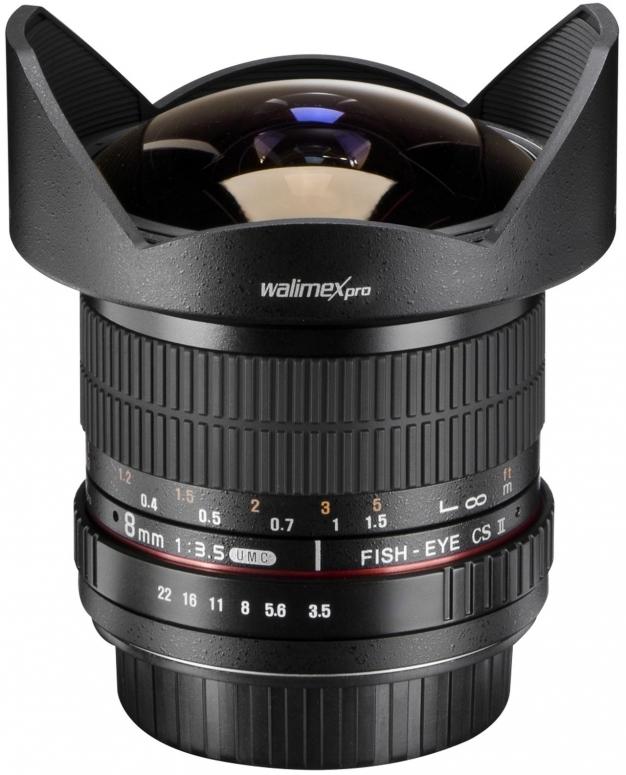 Walimex pro 8mm F3,5 Fisheye II APS-C Nikon F AE