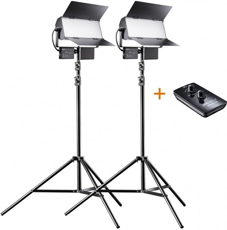 Walimex pro LED Sirius 160 Bi Color 65W 2er SET