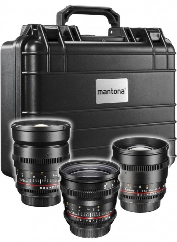 Walimex pro Video Standard Set 3x Canon EF