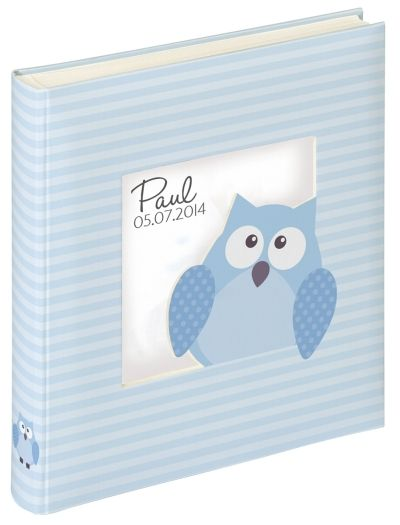 Walther Babyalbum Owlet boy UK-116-L blau