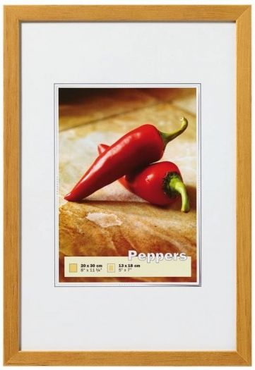 Walther BP040E Holzrahmen Peppers 30x40 eiche
