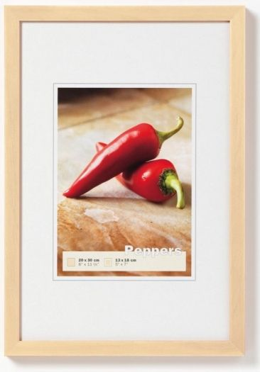 Walther Holzrahmen BP045V Peppers 30x45 polarweiss
