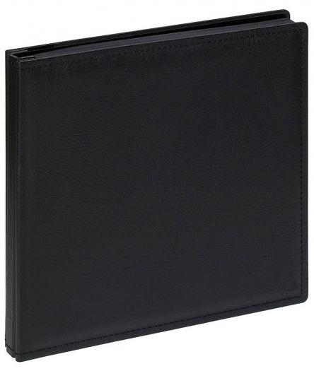 Walther JU-312 Schraubenalbum XL 80 schwarze Seiten schwarz 37x37cm